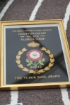 Tudor Rose award won by Simon Charlesworth of Downderry Nursery