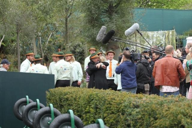 Jubilation on the Trailfinder's garden on their award of 'Best in Show'
