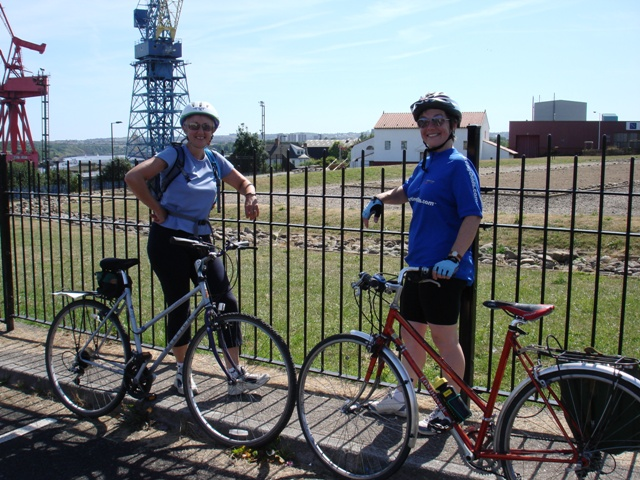 Wallsend, Gillian and Jillian make it to the end of the wall