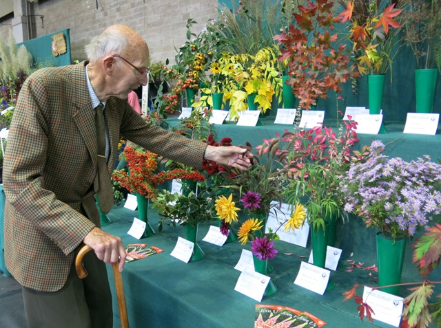 Admiring the Plant Heritage London Group display at the RHS London Show
