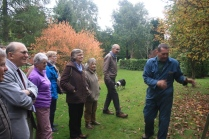 James giving a tour or the Arboretum