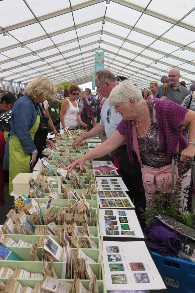 Visitors to Plant Heritage's Seed Shop