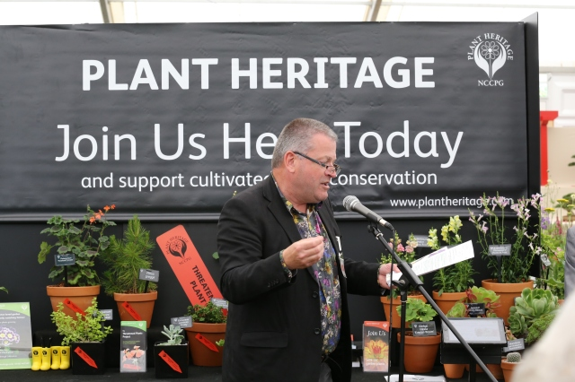 BBC's Matt Biggs opening the Plant Heritage Zone on Press Day